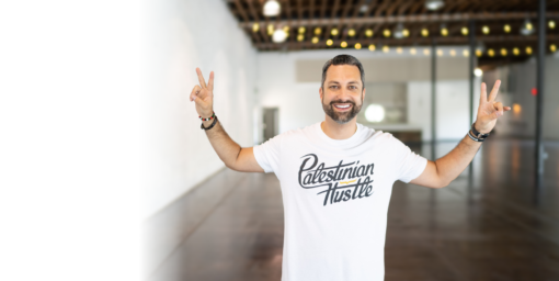 Palestinian T-Shirt - white - Unisex Shirt - Palestinian Hustle - Clothing to Spread Love, Help Others & Always Hustle
