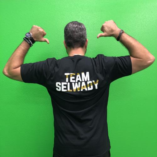 BLACK Pride of Palestine (Back) | Team Selwady | Palestinian Hustle T-Shirt