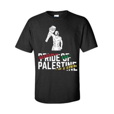 BLACK Pride of Palestine (Front) | Team Selwady | Palestinian Hustle T-Shirt
