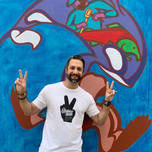 Spread Peace Line | Palestinian Hustle T-Shirt
