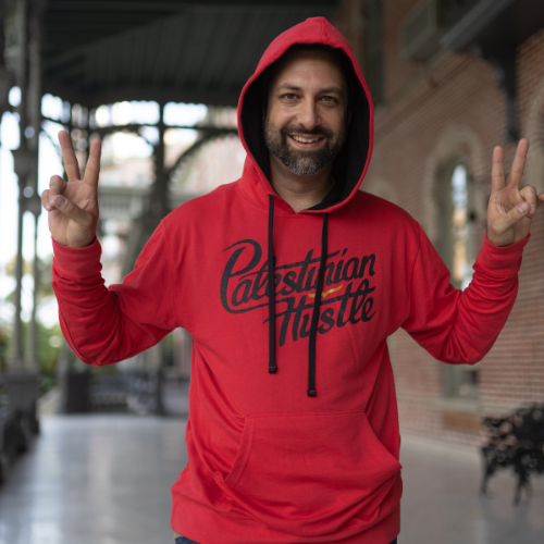 French Terry Pullover Hoodie Line | Red Hoodie | Palestinian Hustle |