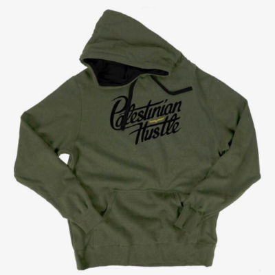 Long Sleeve & Hoodie | Palestinian Hustle Black On Green Hoodie | Clothing to Spread Love, Help Others & Always Hustle