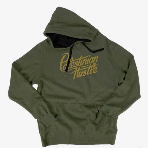 Long Sleeve & Hoodie | Palestinian Hustle Yellow On Green Hoodie | Clothing to Spread Love, Help Others & Always Hustle