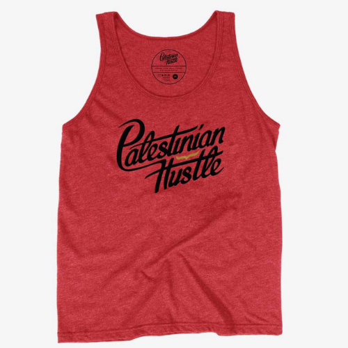Red Palestinian Hustle Unisex Tank Top | Palestinian Hustle | Spread Love, Help Others & Always Hustle