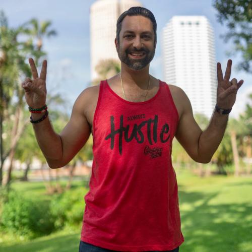 Red Always Hustle Unisex Tank Top | Palestinian Hustle | Spread Love, Help Others & Always Hustle