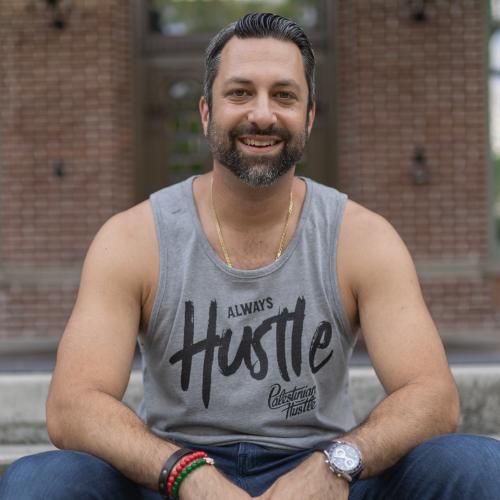 Gray Always Hustle Unisex Tank Top | Palestinian Hustle | Spread Love, Help Others & Always Hustle