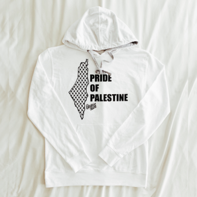 White Palestinian Hustle Team Selwady Hoodie | Palestinian Hustle | Spread Love, Help Others & Always Hustle
