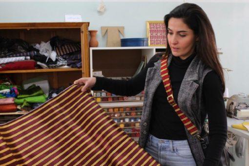 Red Kashmere Bag Strap | Palestinian Hustle