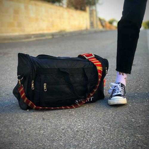 Red Kashmere Bag Strap Duffel Bag | Palestinian Hustle